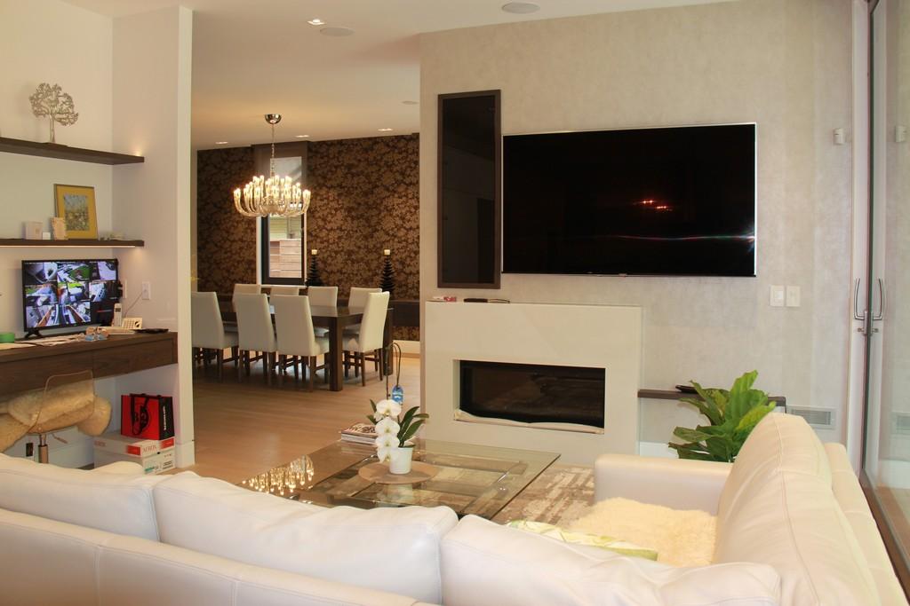 Basement Family/Media Room by Milman Design Build